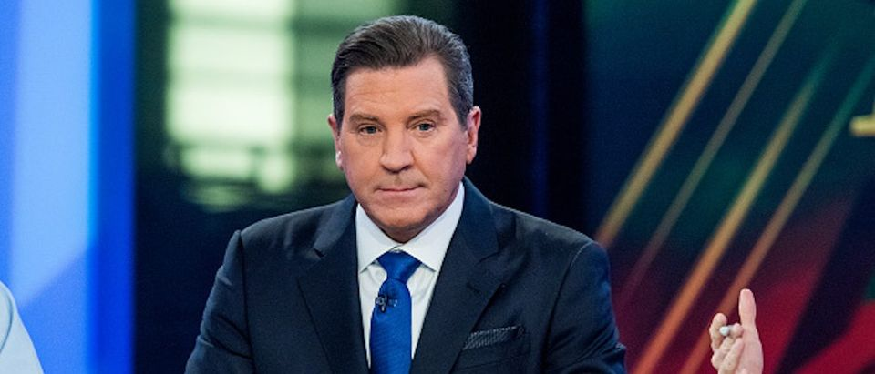 "Fox Host Eric Bolling sits on the panel of Fox News Channel's ""The Five"" as pundit Bob Beckel rejoins the show at FOX Studios on January 17, 2017 in New York City. (Photo by Roy Rochlin/Getty Images)"
