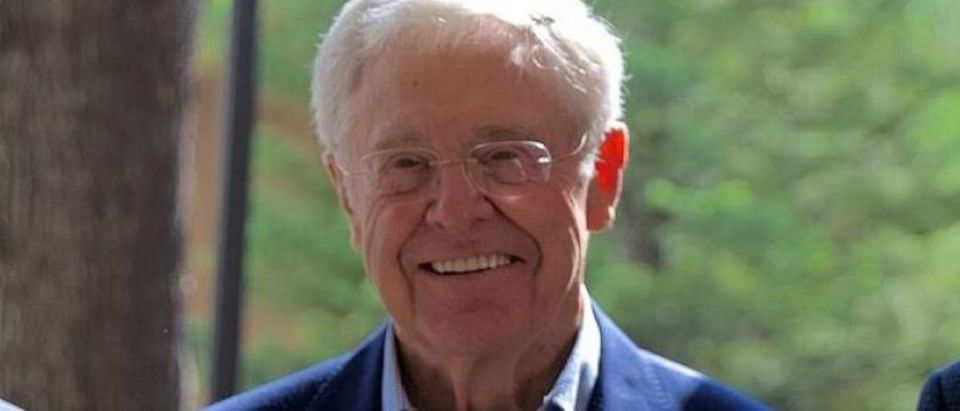 Charles Koch and Mark Holden at the 2017 Koch Seminar Network Conference in Colorado Springs (Photo Credit: The Seminar Network) | Kochs Push Millennials On Tax Reform