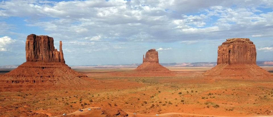 General view of Monument Valley Tribal Park in Utah