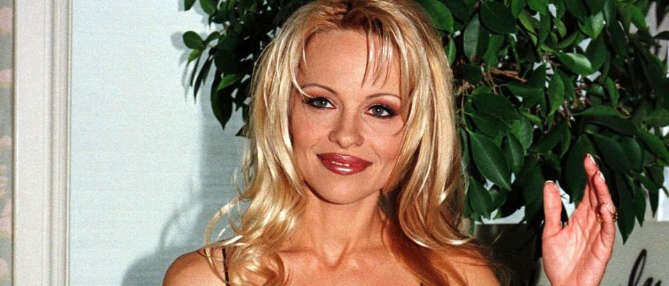 ACTRESS PAMELA ANDERSON LEE AT NEWS CONFERENCE