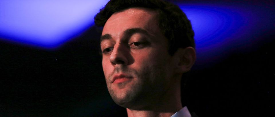 Democrat Jon Ossoff addresses his supporters after his defeat in Georgia's 6th Congressional District special election in Atlanta