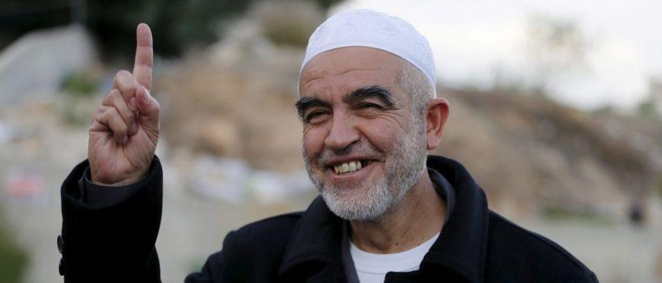 Sheikh Raed Salah photographed in Nazareth