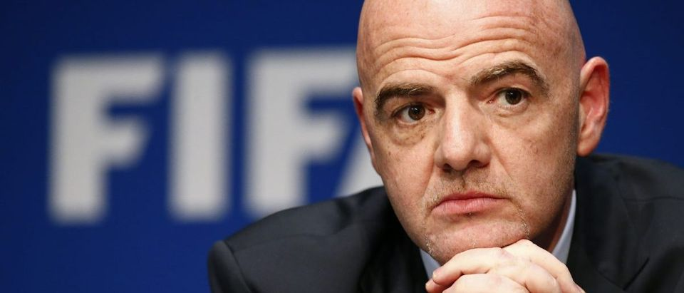 FIFA President Infantino attends a news conference at the FIFA headquarters in Zurich- Photo Credit: Ruben Sprich, Reuters