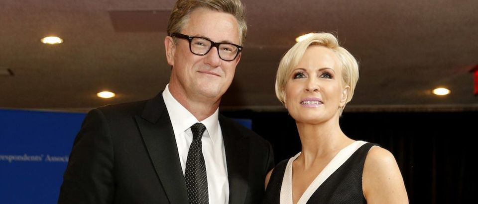 MSNBC's Scarborough and Brzezinski arrive for the annual White House Correspondents' Association dinner in Washington