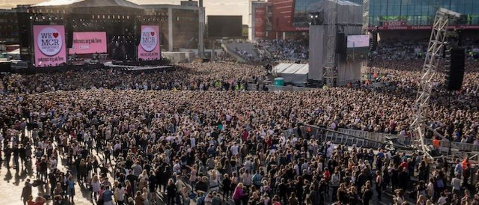 General view during the One Love Manchester benefit concert for the victims of the Manchester Arena terror attack at Emirates Old Trafford, Manchester