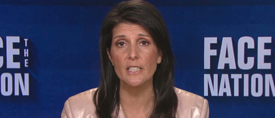 UN Amb. Nikki Haley discusses President Trump's position on climate change. (Youtube screen grab)
