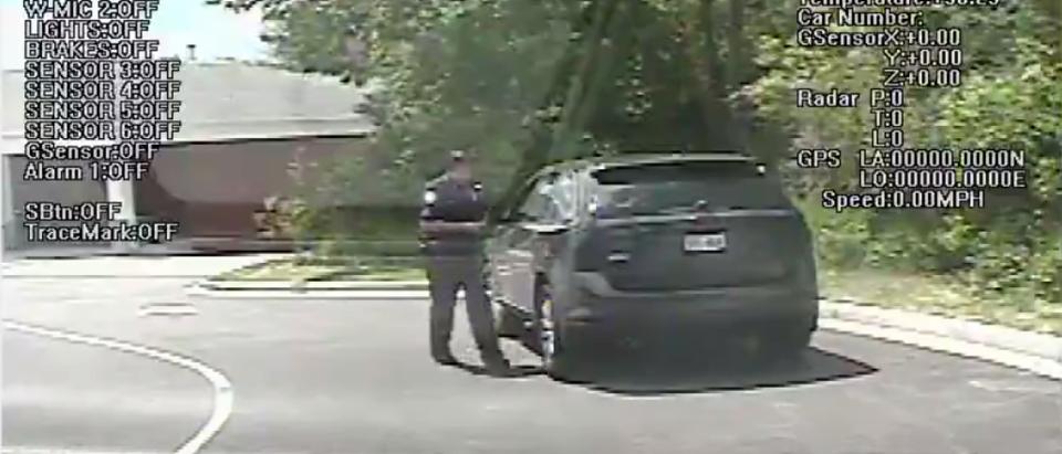 Sergeant Karczewski pulls over Katherine Torres (Screenshot/Facebook/Villiage of Greendale Police Department)