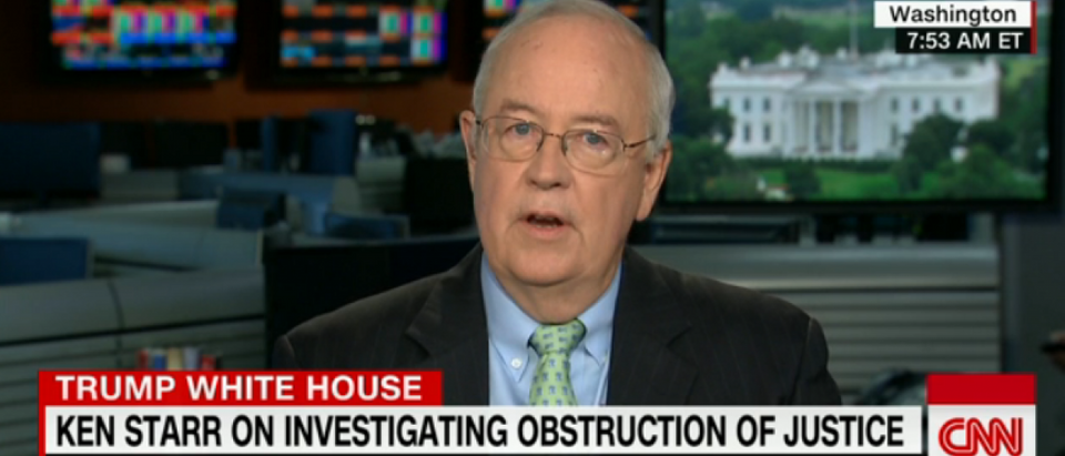 Ken Starr speaks on CNN. (CNN/Screenshot)