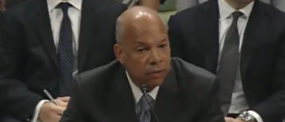 Former DHS Sec. Jeh Johnson testifies before the House Intelligence Committee. (Youtube screen grab)