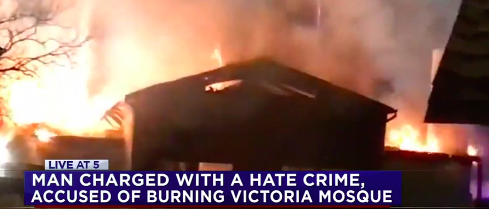 Marq Vincent Perez was indicted on charges of destroying an Islamic Center (Screenshot/ABC13)