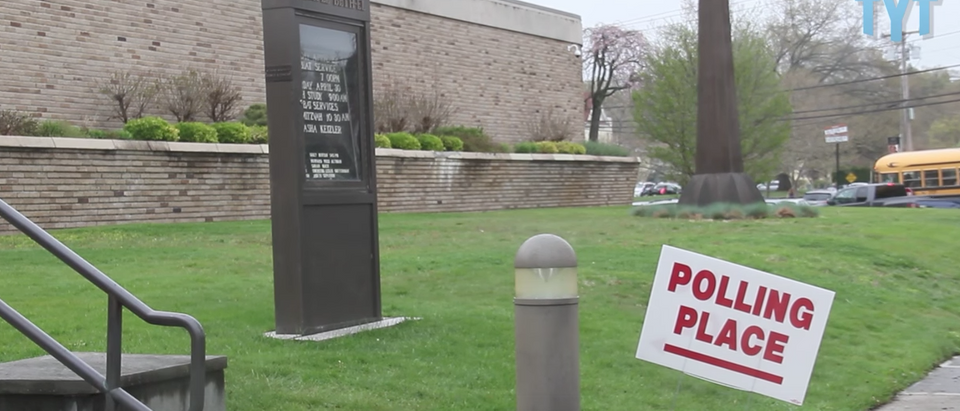Rhode Island polling place (The Young Turks - You Tube Screen Shot)