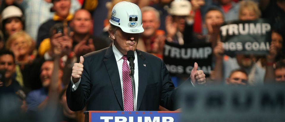 Trump hard hat construction Getty Images Mark Lyons