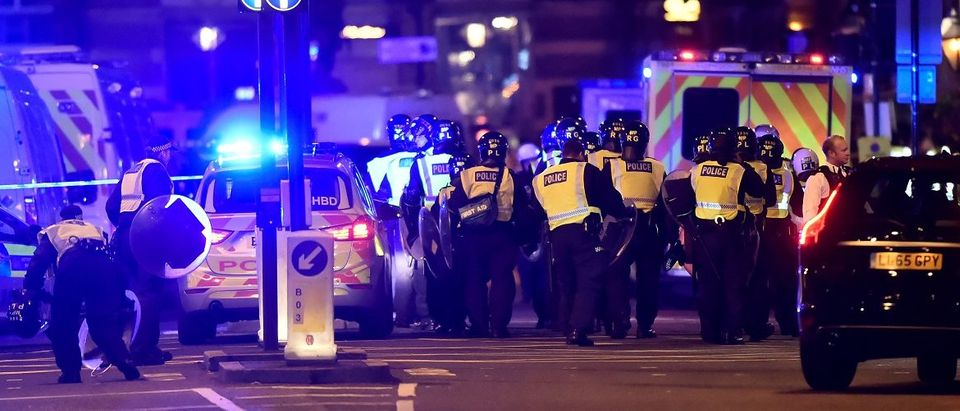 Police attend to an incident on London Bridge in London, Britain, June 3, 2017. Reuters/Hannah McKay.