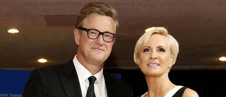 MSNBC's Scarborough and Brzezinski arrive for the annual White House Correspondents' Association dinner in Washington