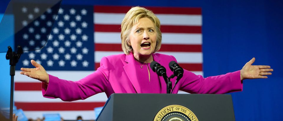 Shutterstock/ CHARLOTTE, NC, USA - JULY 5, 2016: Hillary Clinton speaks at a campaign rally at the Charlotte Convention Center in a joint appearance with the US President.