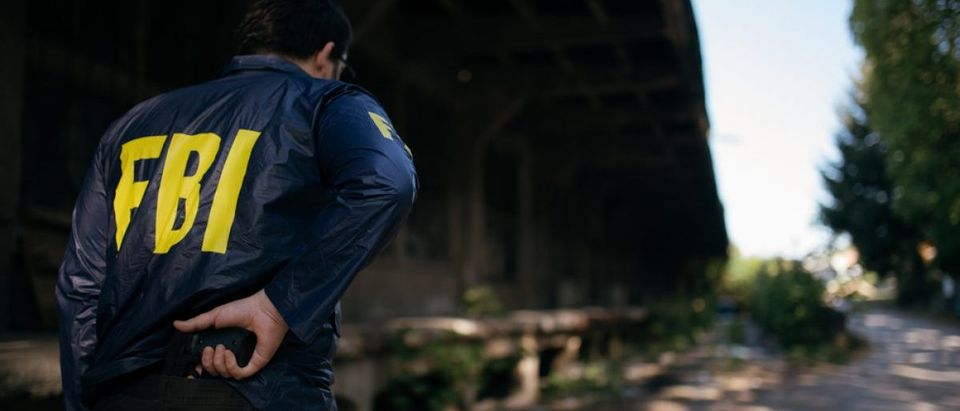 An FBI agent readies his pistol. Source: Dzelat/Shutterstock