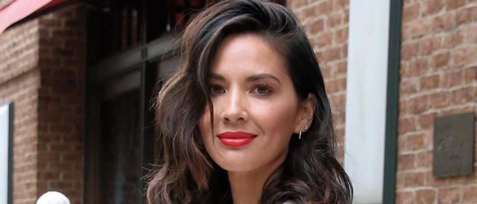 Actress Olivia Munn leaves the Greenwich Hotel in New York City