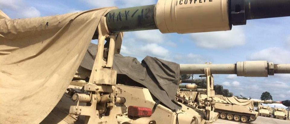 Army Tank Has 'Cofveve' Painted On Cannon (Daily Caller)