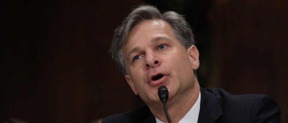 Wray testifies before Senate Judiciary Committee confirmation hearing on Capitol Hill in Washington
