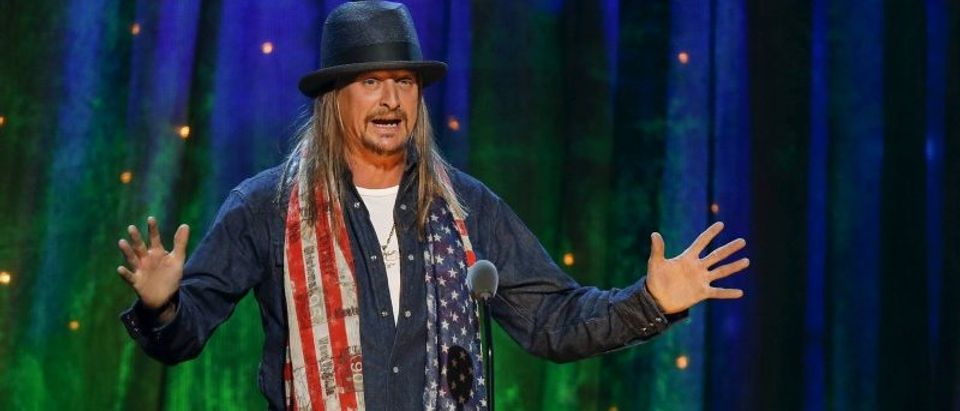 FILE PHOTO: Kid Rock inducts rock band Cheap Trick at the 31st annual Rock and Roll Hall of Fame Induction Ceremony at the Barclays Center in Brooklyn
