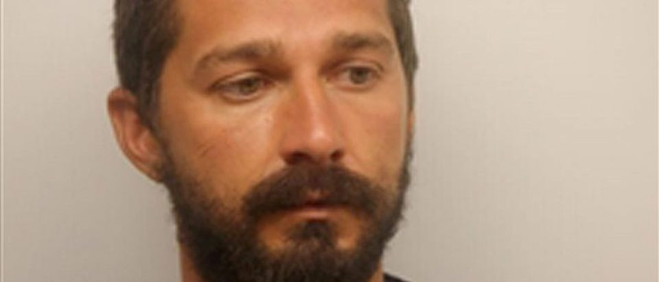 Actor Shia LeBeouf is pictured in Savannah in this handout photo