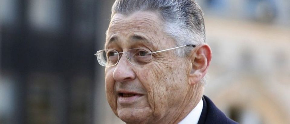 FILE PHOTO - Former New York State Assembly Speaker Sheldon Silver at the Manhattan U.S. District Courthouse in New York