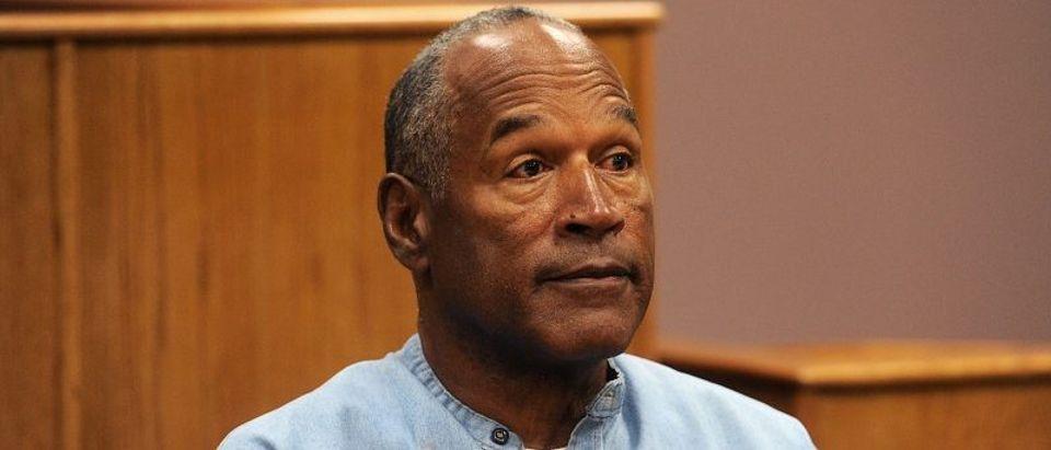 O.J. Simpson reacts during his parole hearing at Lovelock Correctional Centre in Lovelock, Nevada, July 20, 2017. REUTERS/Jason Bean/POOL