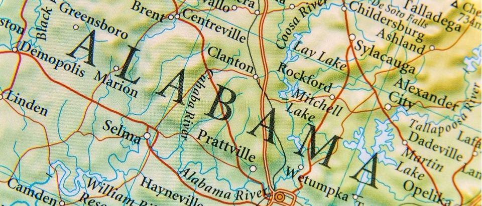 Map of Alabama. (Bennian/Shutterstock.)