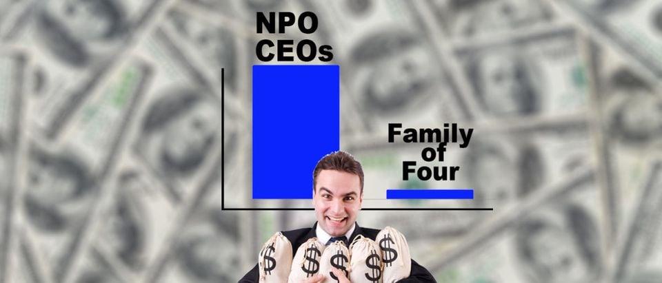 Government-funded anti-poverty CEOs take lavish salaries.
