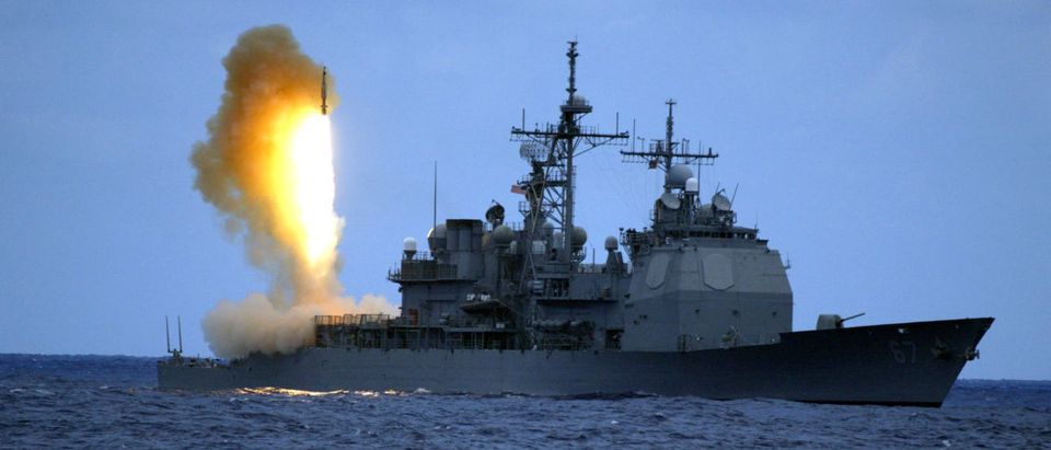 SM-3 is launched from guided missile cruiser USS Shiloh during ballistic missile flight test in Pacific Ocean