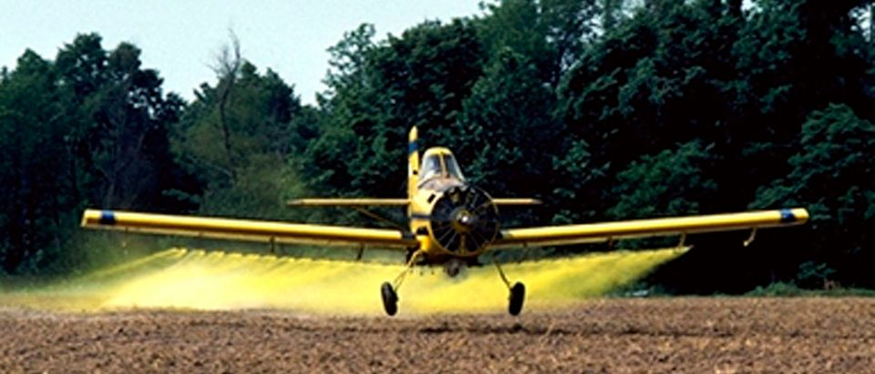 FILE PHOTOdusting planes. REUTERS/Tim McCabe/USDA Photo/HandoutGRAPH OF CROP DUSTING AIRPLANE IN ARKANSAS.