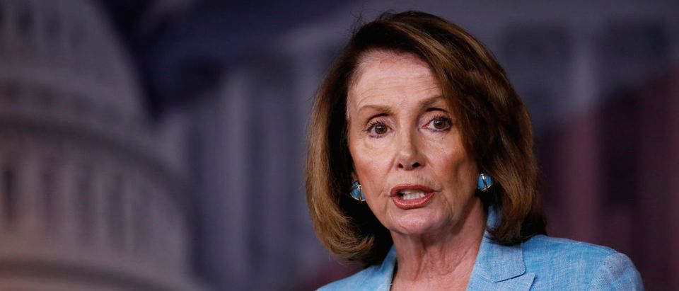 House Minority Leader Nancy Pelosi speaks about the recent attack on the Republican Congressional Baseball team during her weekly press conference on Capitol Hill in Washington, U.S., June 15, 2017. REUTERS/Aaron P. Bernstein