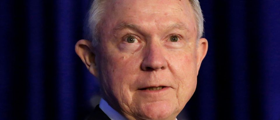 Attorney General Jeff Sessions attends a summit on crime reduction