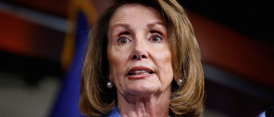 House Minority Leader Nancy Pelosi (D-CA) speaks after Senate Republicans unveiled their version of legislation that would replace Obamacare in Washington