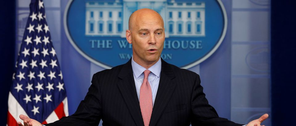 Marc Short, the director of the Office of Legislative Affairs, has a salary of $179,700 (REUTERS/Jonathan Ernst)