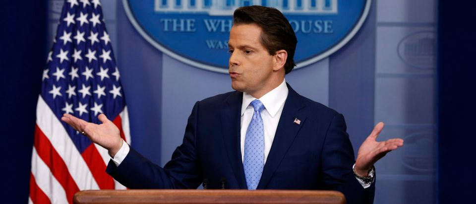 New White House Communications Director Anthony Scaramucci addresses the daily briefing at the White House in Washington, U.S., July 21, 2017. REUTERS/Jonathan Ernst