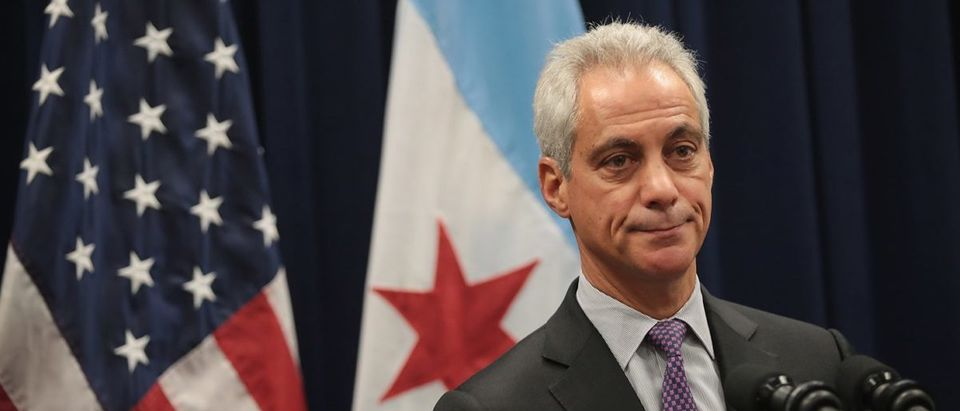 Chicago Mayor Rahm Emmanuel Speaks To The Press After City Council Meeting