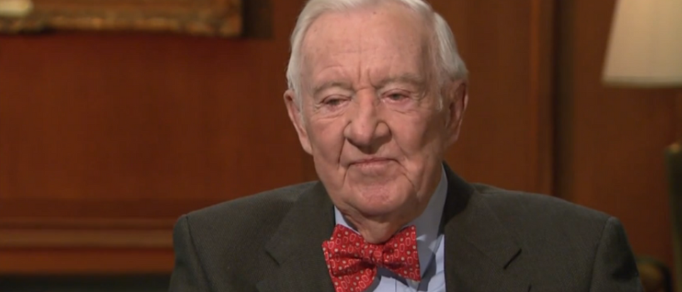 Justice John Paul Stevens speaks to PBS NewsHour. (YouTube Screengrab/PBS NewsHour)