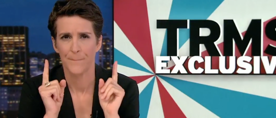 Rachel Maddow Awkward Silence (YouTube Screen Shot)