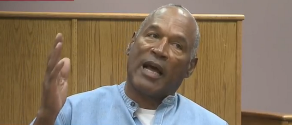 O.J. Simpson speaks at a parole hearing in July 2017. (YouTube screenshot/NBC News)