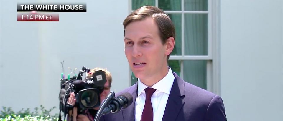 Screen Shot Jared Kushner Delivers Statement At White House (Fox News: July 24, 2017)