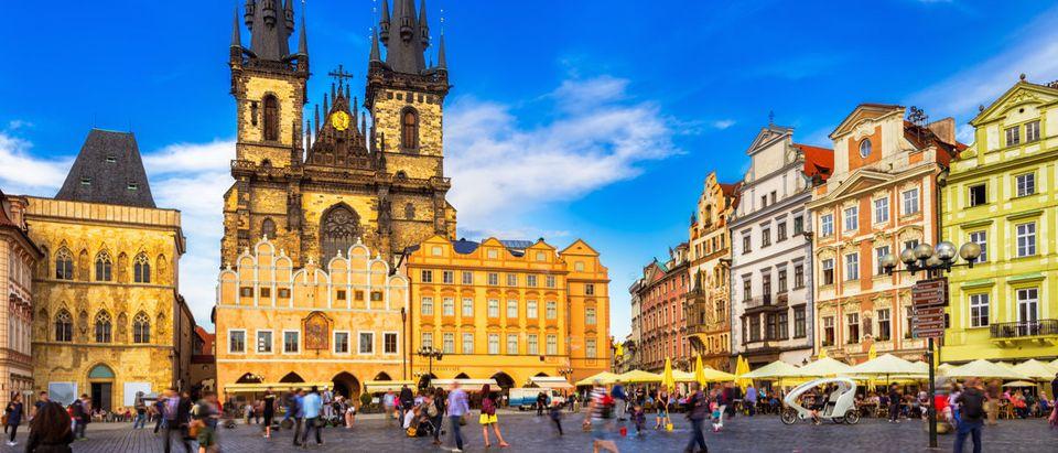 Shutterstock/ Prague Old Town Square and Church of Mother of God before Tyn in Prague, Czech Republic. Architecture and landmark of Prague, postcard of Prague pragueprahaancientarchitectureartbackgroundbohemiacathedralcatholicismcenterchristianchristianitychurchcitycityscapeculturecupolaczechdecoreuropefamousgothichistoryhouseshusjanlandmarkmarymedievalmonumentoldoutdoorsprague architectureprague cityprague czech republicreligionrepublicsacredspiritualsquaretempletourismtraveltynunescovirginShow more