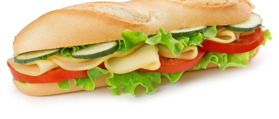 Shutterstock/ sandwich with cheese, tomato, cucumber and lettuce sandwichisolatedcheesebaguettevegetariansubrollbackgroundfilledwhitesalademmentallettucedeligourmetbunswisstomatobreakfastdairyappetizercateringcheddarcloseupcoldcucumberdeliciousdietdinerdinnereatfastfoodfreshgreenhealthyjunkleaflonglunchmealnutritionorganicpicnicsliceslicedsnacksubmarinevegetablewholeShow more