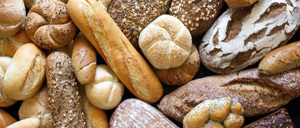 Shutterstock/ Many mixed breads and rolls shot from above. breadbackgroundfoodvarietyabovebakeryblackfullwhitegermangrainhealthlotmanyrusticfreshangleartisanalbaguettebakebarleydarkdougheuropeanflourkaiserloafmealmixedpackedpaintedperspectiveryeseedselectionshapessunflowertopwheatwholeShow more