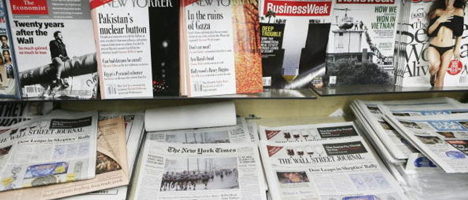 Newspapers On Display In New York