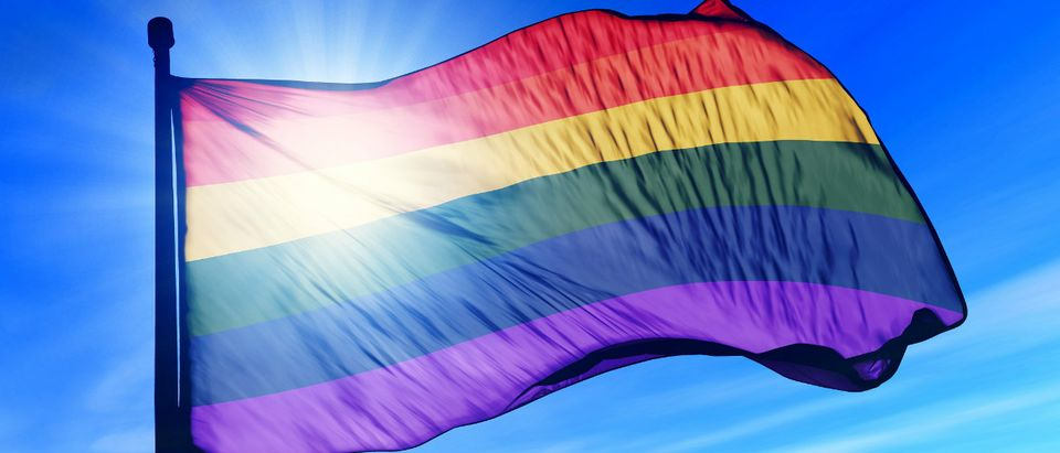 Gay pride flag. (Photo credit: Shutterstock/iri Flogel)