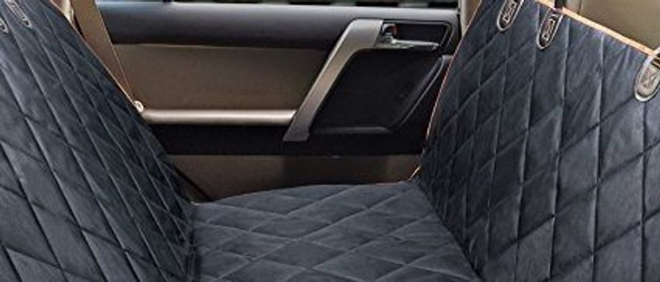 Normally $43, this pet seat cover is 54 percent off with this code (Photo via Amazon)