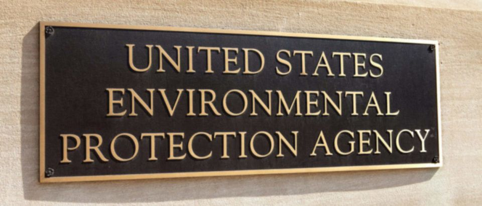 WASHINGTON, DC - MAY 4: Plaque outside the United States Environmental Protection Agency (EPA) in downtown Washington, DC on May 4, 2015.(Shutterstock/Mark Van Scyoc)