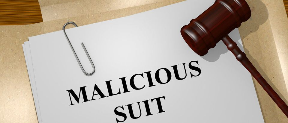 Render illustration of Malicious Suit title on Legal Documents (Shutterstock/hafakot)
