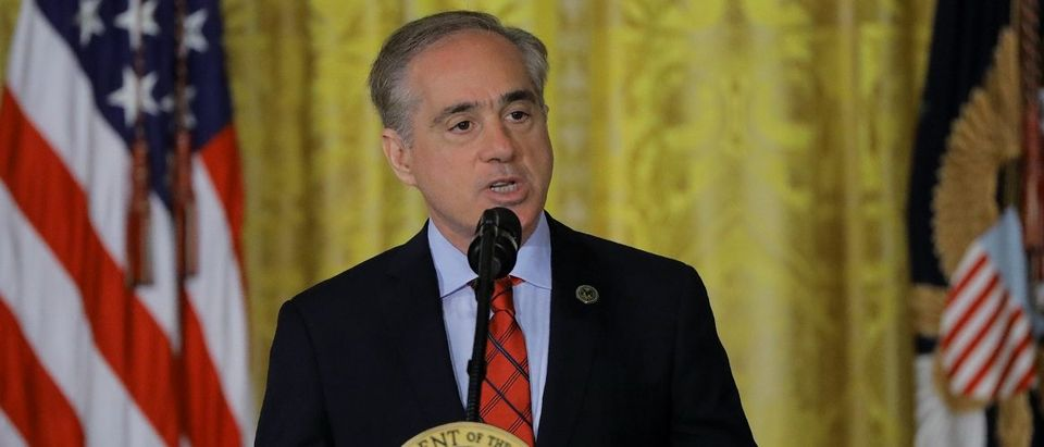 Veterans Affairs Secretary Shulkin speaks during VA Accountability Act signing ceremony in the East Room of the White House in Washington